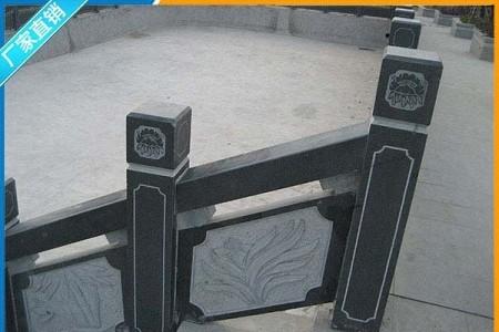 芝麻黑栏杆雕刻工程案