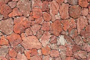 红色火山岩