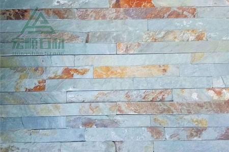 组合板文化石(绿锈色)