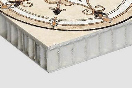 拼花+铝蜂窝复合板