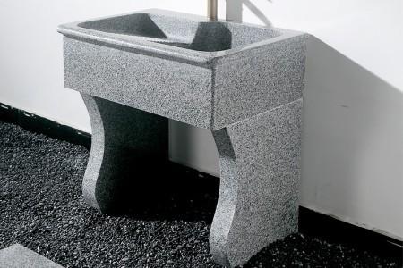 芝麻白室外工艺原石洗衣池
