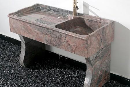幻彩红室内工艺原石洗衣池