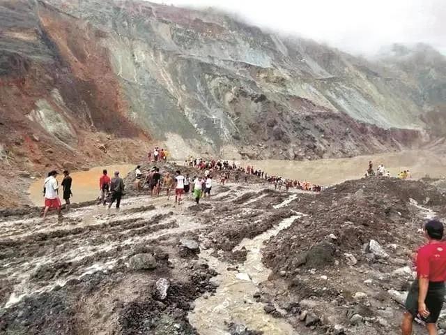 缅甸帕敢翡翠矿区遇难人数已上升至166人,55人受伤