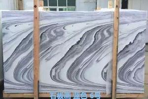 纳米微晶石石版画蓝色石材大板