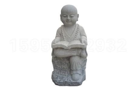 石雕小沙弥 石雕小和尚 石雕小人物 石头小沙弥 石头小和尚 石头小人物雕塑摆件