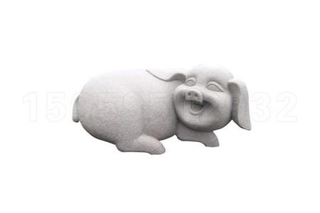 石雕猪 石头猪动物雕塑 石猪雕刻