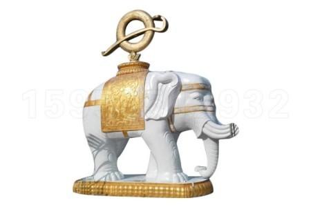 石雕大象 园林景区酒店看门石头大象动物雕塑