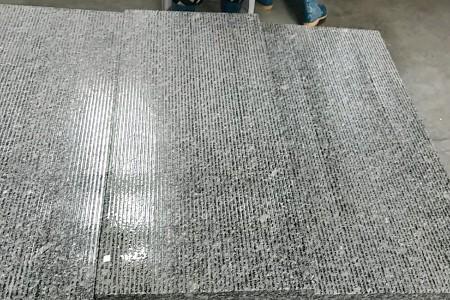 深灰色花岗岩光面拉丝板  可替代芝麻黑