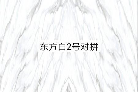 东方白2号对拼(3D渗墨)