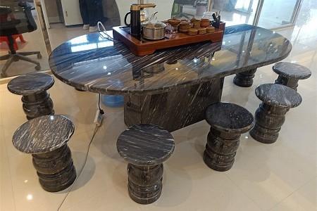 卡地亚灰石桌椅