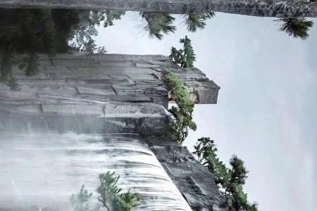 芝麻黑老矿自然面背景墙