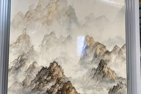 白色山水画