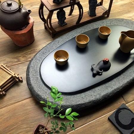 《乌金石茶盘》